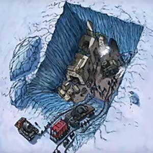 Descubren tres naves nodrizas bajo el hielo de la Antártida