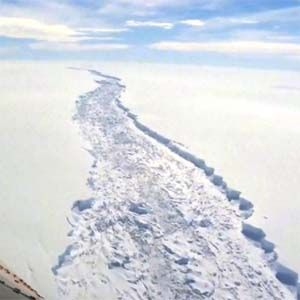 Iceberg: mide aproximadamente 25 veces más que la Capital Federal