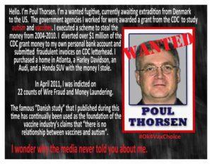 Poul thorsen: ocultó vínculo entre vacunas y autismo 0