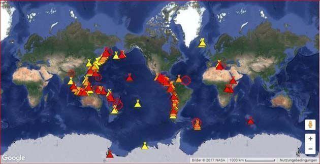 Anillo de Fuego en el Pacifico, seguros automovil baratos, calcular seguro de coche.