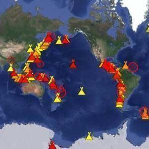 Hay 32 volcanes en erupción en el Anillo de Fuego del Pacífico