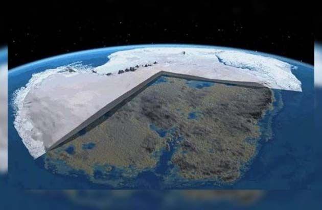 grieta en la antártida, antarctica.