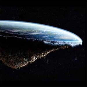 La intención de Hughes es fotografiar la forma de la Tierra