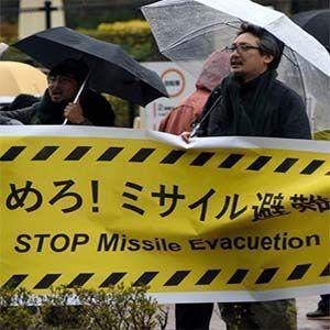 El lunes en Tokio, buscaron refugio por una prueba de alerta de misiles