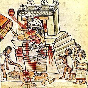 A mediados del siglo XVI, la civilización azteca comenzó a morir