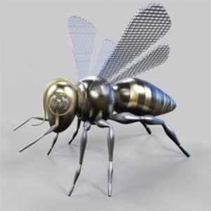 Abejas robóticas: pequeños drones, que transportan polen de una planta a otra