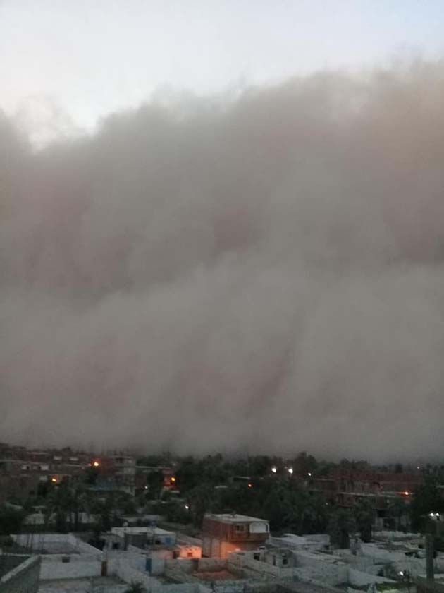 Tormenta de arena bíblica, el tiempo en egipto en noviembre.