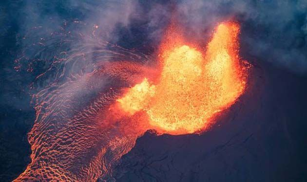 Volcán Kilauea, desmagnetizador.