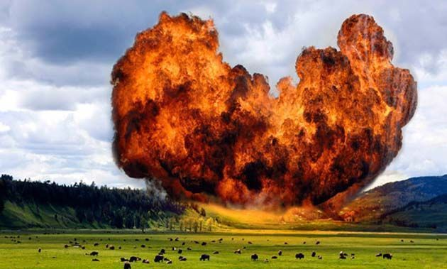 yellowstone supervolcano eruption date.