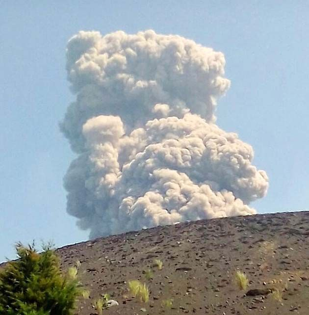 tipos de erupciones volcánicas.
