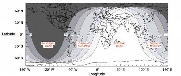 eclipse3 - El viernes 27 de julio es una gran noche para la astronomía: eclipse lunar y conjunción marciana