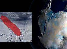 Si el iceberg de la Antártida se rompe, tendrá 300 km.cuadrados