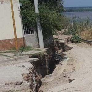 Hay una grieta gigante en Entre Ríos, que puede tragarse todo el pueblo