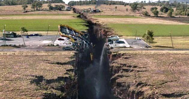 Ingenieria ambiental: se han abierto grietas gigantes en todo el mundo