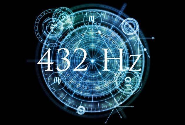 Afinador de guitarra:  Convertir musica a 432 hz: 432 hz puede considerarse un armónico de luz