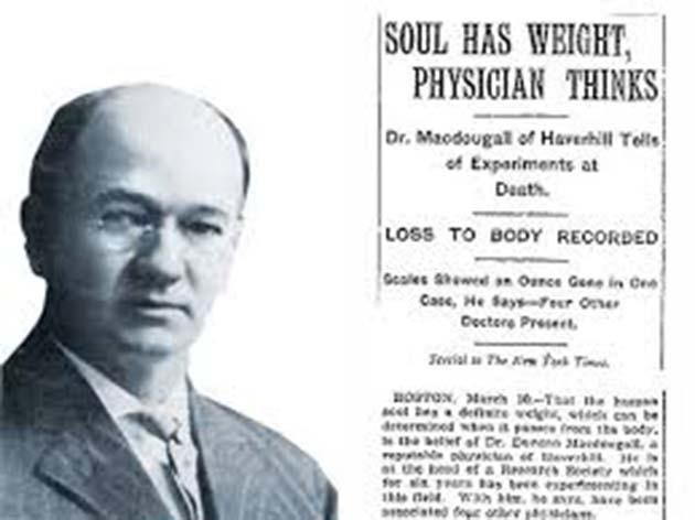 Vida: concluyó que el alma humana pesa 21 gramos