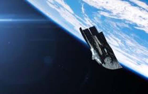 Satélite mapa: 1 Black Knight orbita la Tierra en una órbita casi polar