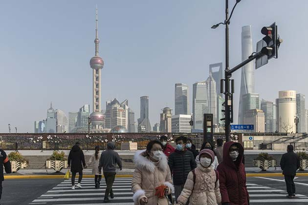 Shanghai: durante 14 días, no se les permite salir.