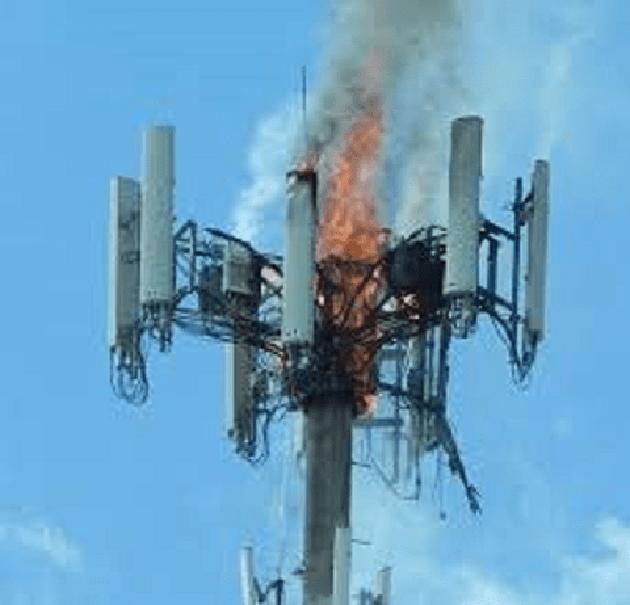Torres 5G: algunas personas las están prendiendo fuego