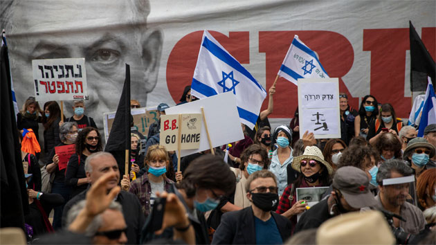 Israelíes: miles de israelíes salieron a las calles 0