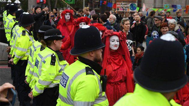 Manifestantes: se reunieron en el centro de Londres 0