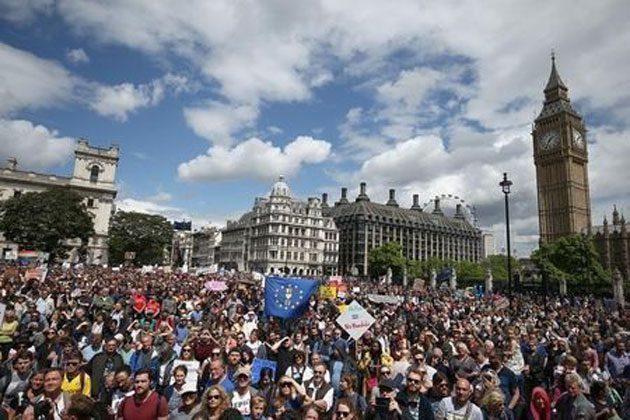 00  Manifestantes: se reunieron en el centro de Londres  00
