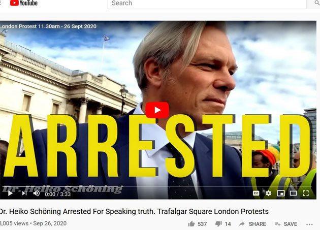 Médico alemán: arrestado en protestas en Londres 0