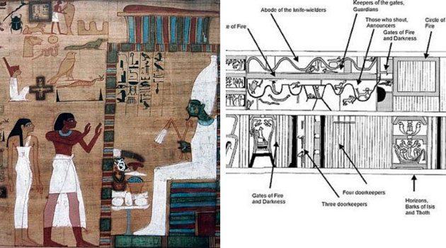 00  trozos de madera: grabados de un sarcófago  00
