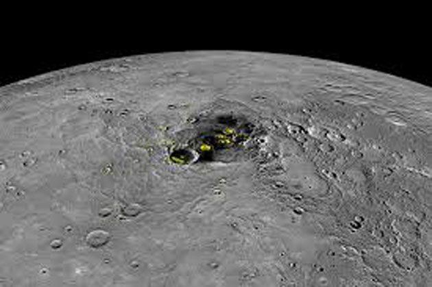 Agua helada: detectada en los cráteres de la luna 0