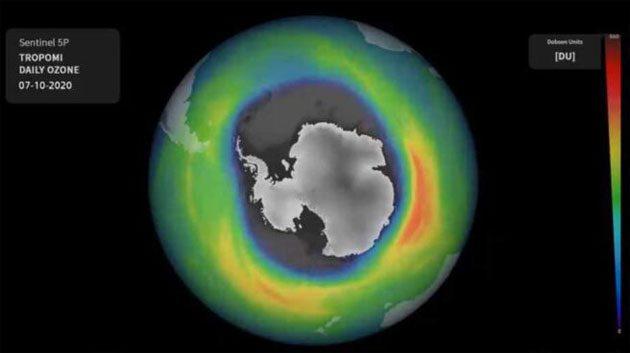 Reacciones entre el cloro y bromo: el agujero de ozono es el más grande de los últimos años